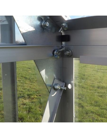 Strucure en aluminium - Serre de jardin en polycarbonate transparent
