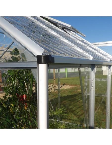 Goutière - Serre de jardin en aluminium et polycarbonate