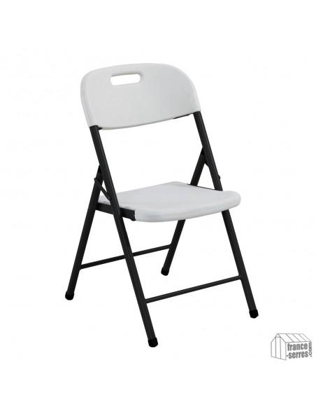 Chaise pliante en PE adaptée autant à une utilisation extérieure qu'intérieure