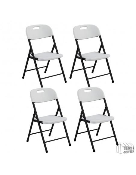 Nos chaises pliantes en Polyéthylène sont vendues en lot de 4 pièces