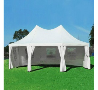 Tente de reception octogonale de 6x4m