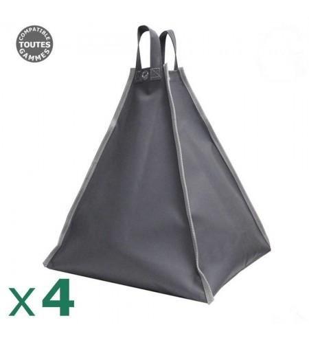 Pack de 4 sacs à remplir de 60kg pour tonnelle pliante ou tente de réception
