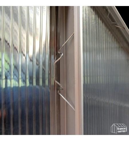 Vert Lot de 50 clips de fixation en plastique pour serre en aluminium Pour isolation de serre