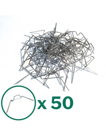 Lot de 50 clips en métal pour montage des panneaux en polycarbonate sur une serre de jardin