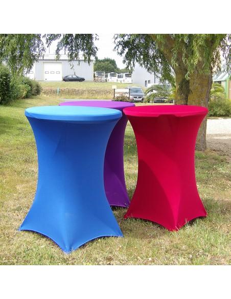 Housses tubulaires en Lycra pour table mange-debout