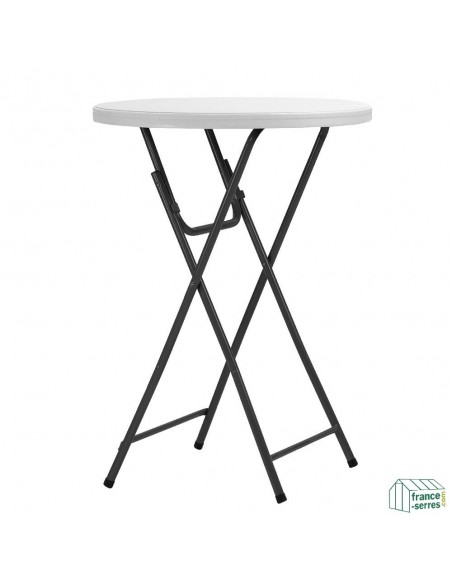 Pack Table Mange-debout + housse lycra blanc