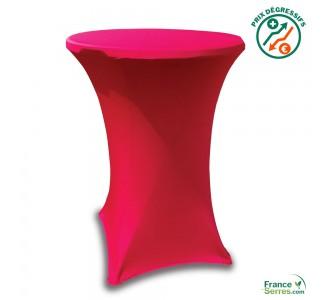 Housse tubulaire en Lycra rouge pour table mange-debout
