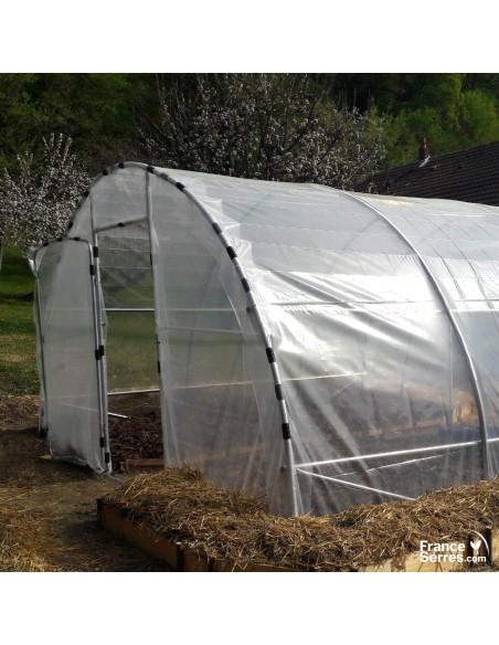 Serre tunnel de jardin bâche transparente 200 microns
