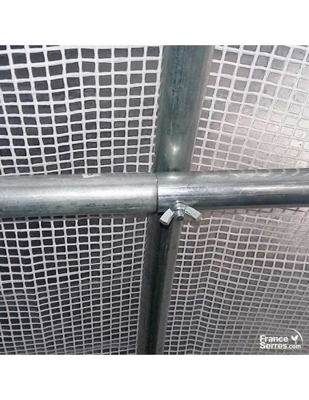 Structure acier galvanisé diamètre 25 montage vis papillon