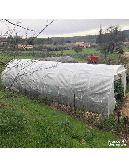 Serre tunnel de jardin avec fenêtres 24m²