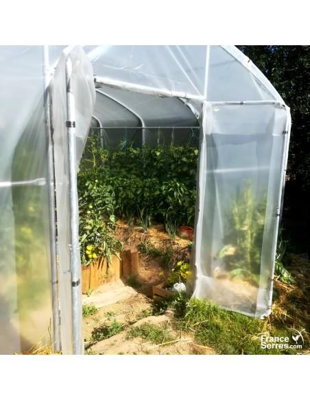 Serre agricole PRO avec 2 doubles-portes 40m²