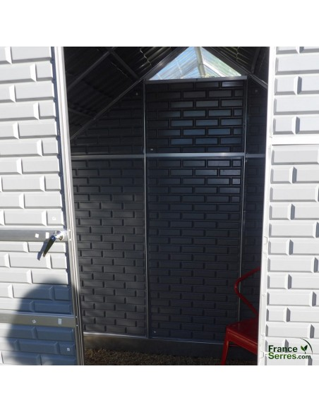 Abri de jardin intégré à la serre polycarbonate