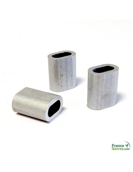 Manchon à sertir Ø3,3mm pour fil Deltane ou Deltex