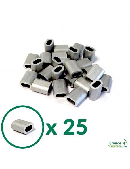 Lot de 25 manchons en aluminium
