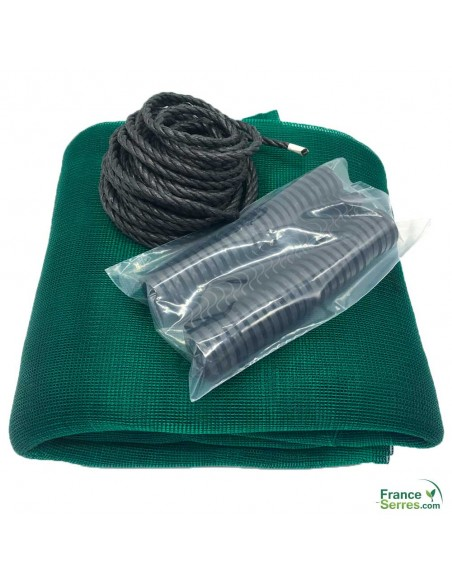 kit complet toile d'ombrage serre tunnel