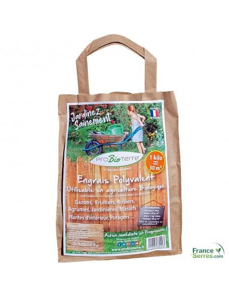 sac de 1kg d'engrais 100% naturel polyvalent