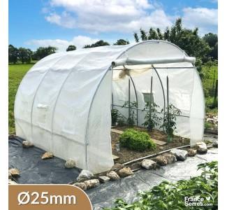 Serre tunnel de jardin avec fenêtres 9m²