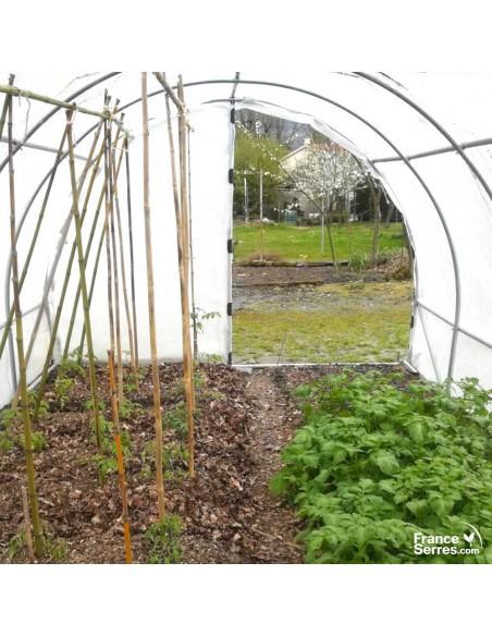 Serre jardin 18m² bâche 2 portes sur charnières